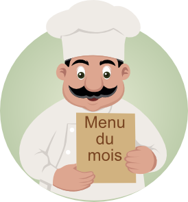 Menu du mois - desinged by Vector Open Stock Team